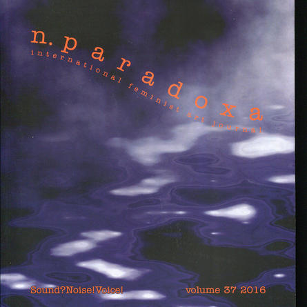 n.paradoxa / international feminist art journal, volume 37, 2016