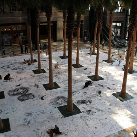 Monika Weiss: Drawing Lethe, World Financial Center Winter Garden, New York, 2006