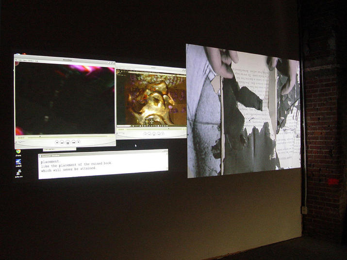 Monika Weiss & Alan Sondheim: Enunciation, Eyebeam, New York, 2012