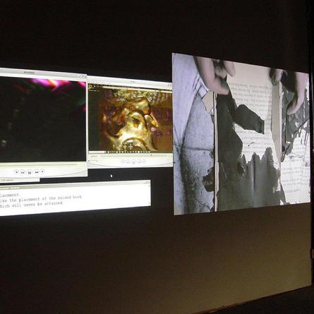 Monika Weiss & Alan Sondheim: Enunciation, Eyebeam, New York, 2012