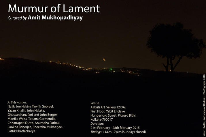 Murmur of Lament, Aakriti Art Gallery, Kolkata, 2015